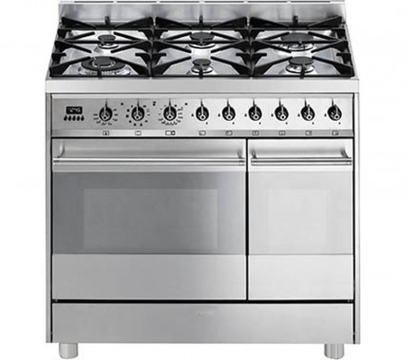 Smeg C92GPX8 90cm Pyrolytic Dual Fuel Stainless Steel Range Cooker