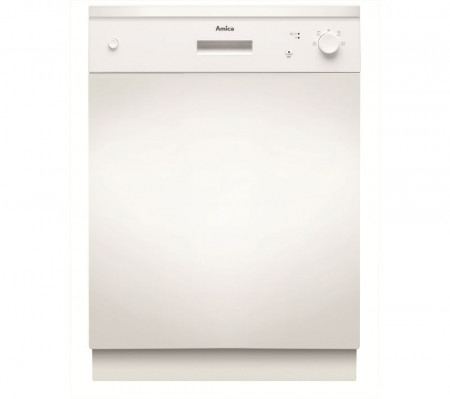 Amica ZZV614W 60cm White Semi Integrated 12 Place Setting Dishwasher