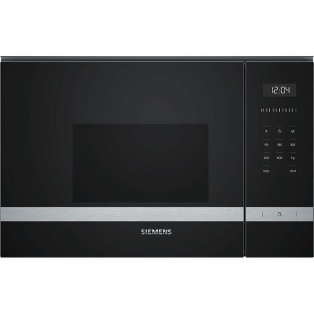 Siemens BF525LMS0BB 60cm Stainless Steel 20 Litre iQ500 800W Built in Microwave Oven