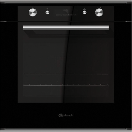 Bauknecht BLVMS-8100-SW 60cm Black Built In Single Multifunction Oven with Soft Closing door