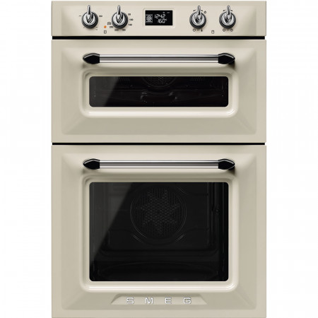 Smeg DOSF6920P1 60cm Cream Victoria Traditional Multi-function Built in Double Oven