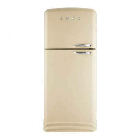 Smeg FAB50LCR 80cm Cream 50's Retro Style Frost Free Fridge Freezer with a Left Hand Hinge