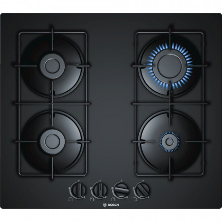 Graded Bosch PNP6B6B80 60cm Black 4 Burner Gas Hob