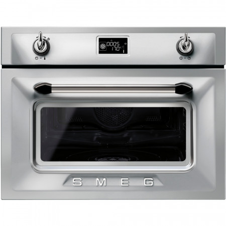 Smeg SF4920VCX 60cm Wide 45cm High Stainless Steel 'Victoria' Compact Steam Oven