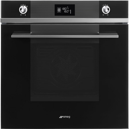 Used Smeg SFP6102TVN 60cm Black `Linea` Pyrolytic Single Oven