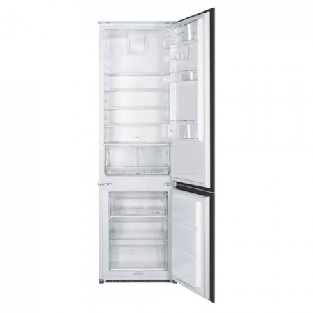Smeg UKC7280FP1 54cm White Integrated In Column 70/30 Combined Refrigerator & Freezer