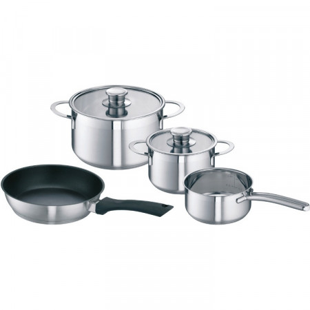 Neff Z9442X0 High Quality Stainless Steel Saucepan Set for Induction Hobs