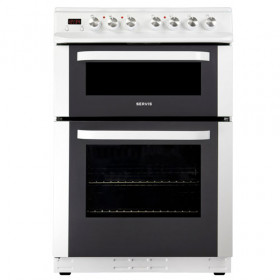Servis DC60W 60cm White Freestanding Electric Ceramic Cooker