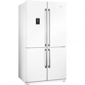 Graded Smeg FQ60BPE 92cm White 4 Door American Fridge Freezer (JUB-22763)