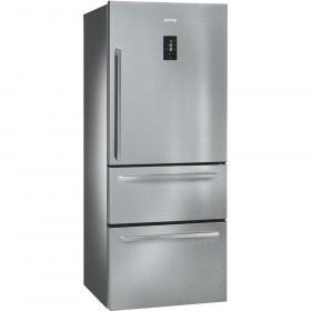 Lightly Used Smeg FT41BXE 75cm St/Steel Fridge Freezer with 1 Door and 2 Drawers (JUB-22701)