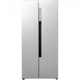 Graded Haier HRF-450DS6 84cm Silver American Fridge Freezer (H-55-H-89)