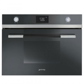 Graded Smeg SF4120MCN 45cm Black Combination Microwave Oven (JUB-24186)