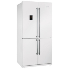 Graded Smeg FQ60BPE White 92cm American Fridge Freezer (JUB-10546)