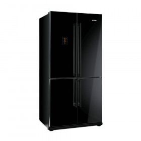 Graded Smeg FQ60NPE 92cm Gloss Black American Fridge-Freezer (JUB-10013)