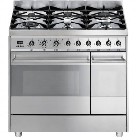Graded Smeg SY92PX8 90cm Stainless Steel Dual Fuel Range Cooker (JUB-24384)