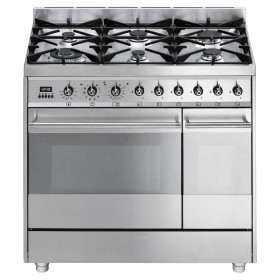 Graded Smeg SY92PX8 90cm St/Steel Pyrolytic Range Cooker (JUB-20833)