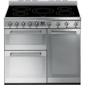 Graded Smeg SY93I 90cm Stainless Steel Electric Induction Range Cooker (JUB-25100)