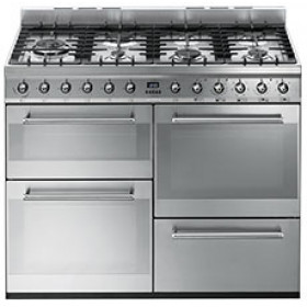 Graded Smeg SYD4110 110cm Stainless Steel 'Symphony' Dual Fuel Range Cooker (JUB-27139)