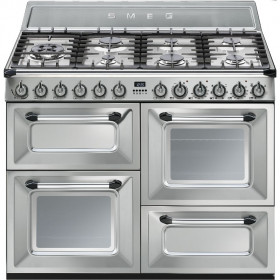 Graded Smeg TR4110X 110cm Stainless Steel `Victoria` Dual Fuel Range Cooker (JUB-24243)