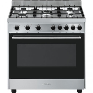 B90GVXI9 90cm Stainless Steel Cooker with Gas Oven and Electric Grill & Gas Hob