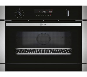 Graded Neff C1APG64N0B 60cm Black and Stainless Steel Built In Combination Microwave