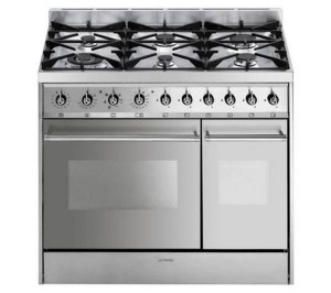 Smeg C92DX8 90cm Dual Fuel Stainless Steel Range Cooker