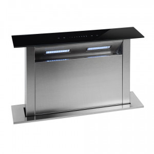 Montpellier DDCH90 90Cm Integrated Downdraft Cooker Hood - 4 Speeds - 2 Led Lights - Touch Control