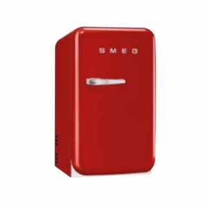 Smeg FAB5LRD 40cm Red 50's Style Minibar Cooler with a Left Hand Hinge