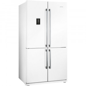 Smeg FQ60BPE 92cm White 4 Door American Fridge Freezer