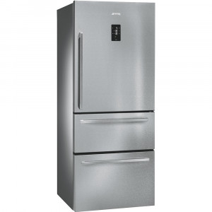 SMEG FT41BXE 75cm Refrigerator-Freezer with One Door & Two Drawers with Finger Friendly Stainless Steel Doors