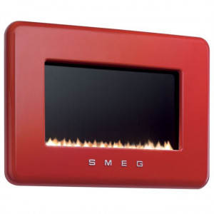 Smeg L30FABERE 80cm Red Electric 50's Retro Style Wall Fire