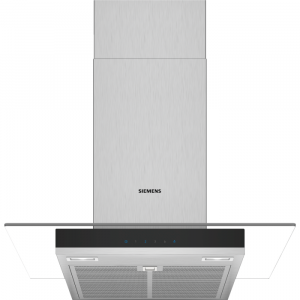 Graded Siemens LC67GHM50B 60cm Chimney Cooker Hood with Flat Glass