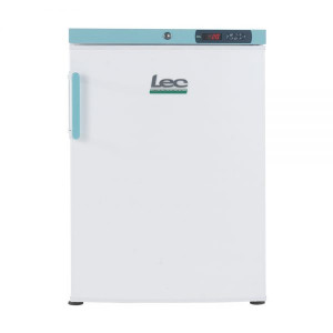 LEC LSF151UK 60cm Professional White 151 Litre Under-counter Laboratory Freezer with a Solid Door