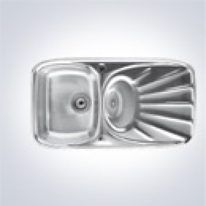 CDA RS1SS Single Bowl Stainless Steel Sink