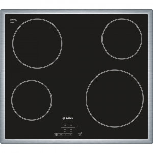 Bosch PKE645B17EB 60cm Black with Stainless Steel Frame Quick-Therm Ceramic Hob