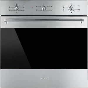 Graded Smeg SF6341GVX 60cm Classic Stainless Steel Single Built in Gas Oven
