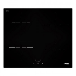 Smeg SI5641B 60cm Black Glass 4 Zone Angled Edge Glass Induction Hob with Touch Controls
