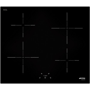 Smeg SI5641D 60cm Black Glass 'Cucina' Frameless 4 Zone Induction Hob with Touch Controls