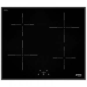 Graded Smeg SI5643B 60cm Black Glass 4 Zones Induction Hob