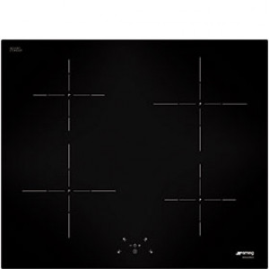 Smeg SI5643D 60cm Black Glass Cucina Touch Control Induction Hob with Straight Edge Glass