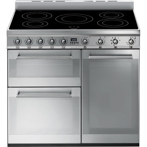 Graded Smeg SY93I 90cm Stainless Steel Electric Induction Range Cooker