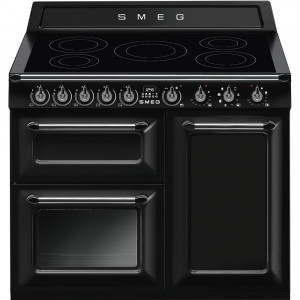 "Smeg TR103IBL 100cm ""Victoria"" Traditional 3 cavity Cooker with Induction Hob"