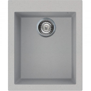 Smeg VZ40AL 40cm Aluminium Synthetic Built-in Basin Undermount Single Sink