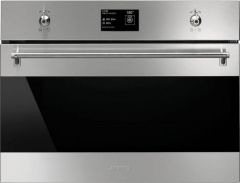 Ex Display Smeg SF4390VCX-1 60cm Stainless Steel Built In Compact Steam Oven (JUB-754)