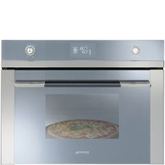 Smeg SFP4120PZ 60cm Stainless Steel Pyrolitic Pizza Compact Multi Function Oven