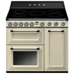 Used Smeg TR93IP 90cm Cream Electric Range Cooker With Induction Hob (JUB-1875)