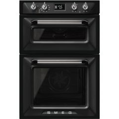 Graded Smeg DOSF6920N1 60cm Black 'Victoria' Built in Double Oven