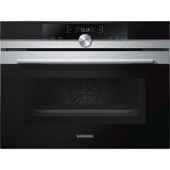 Graded Siemens CM633GBS1B Stainless Steel Built In Electric Single Oven with Microwave (B-8040)