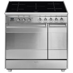 Ex Display Smeg SSK92IMX8 90cm Stainless Steel Electric Range Cooker (JUB-1734)