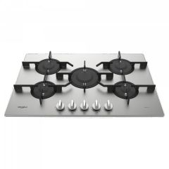 Whirlpool PMW75D2/IXL 75cm Stainless Steel 5 Burner Gas Hob